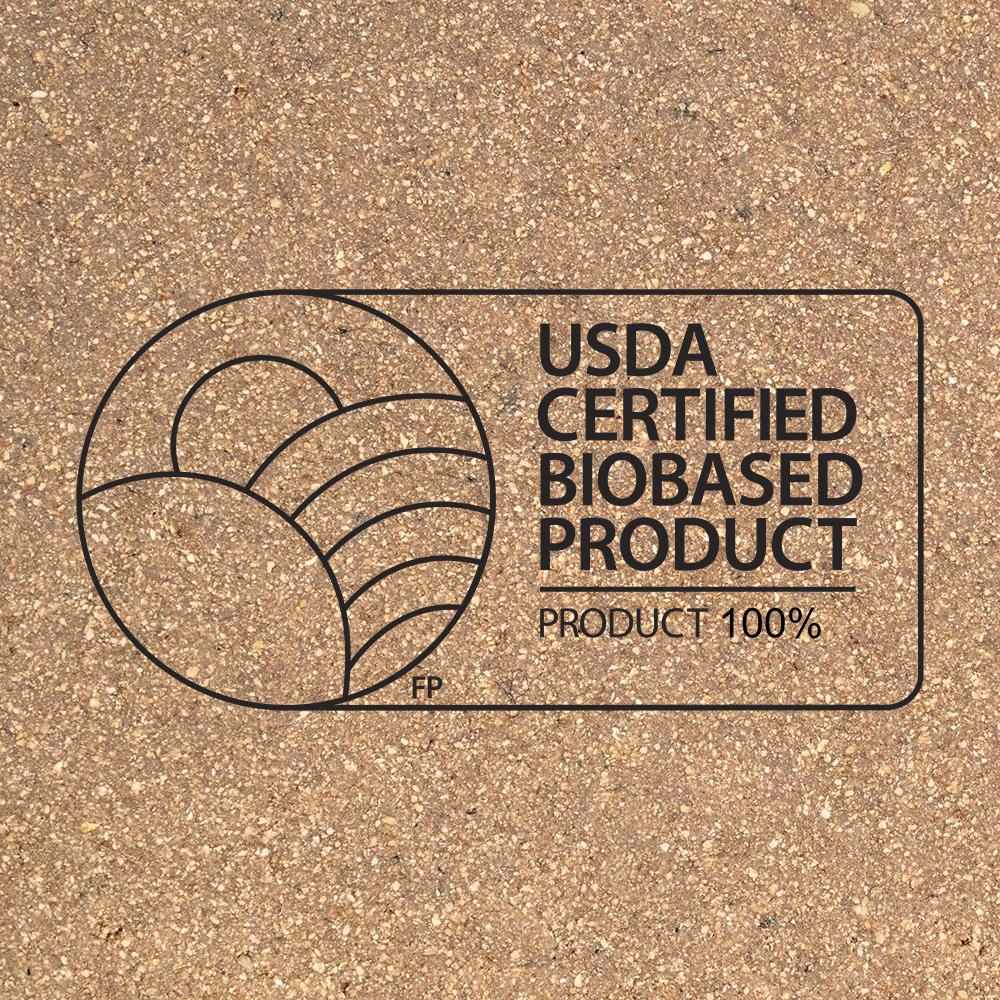 Cork USDA certified biobased square